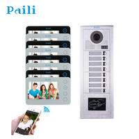 5 inch Touch Panel Silver 2 wire Video Intercom Door Phone System