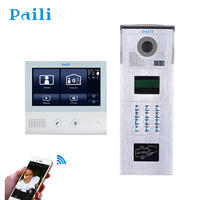 """7"""" Full Color LCD Touch Screen Video Door Phone Multi Apartments Doorbell Intercom System"""
